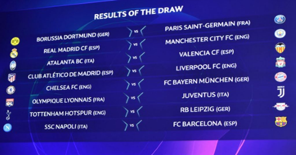 2019 UEFA Champions League Round of 16