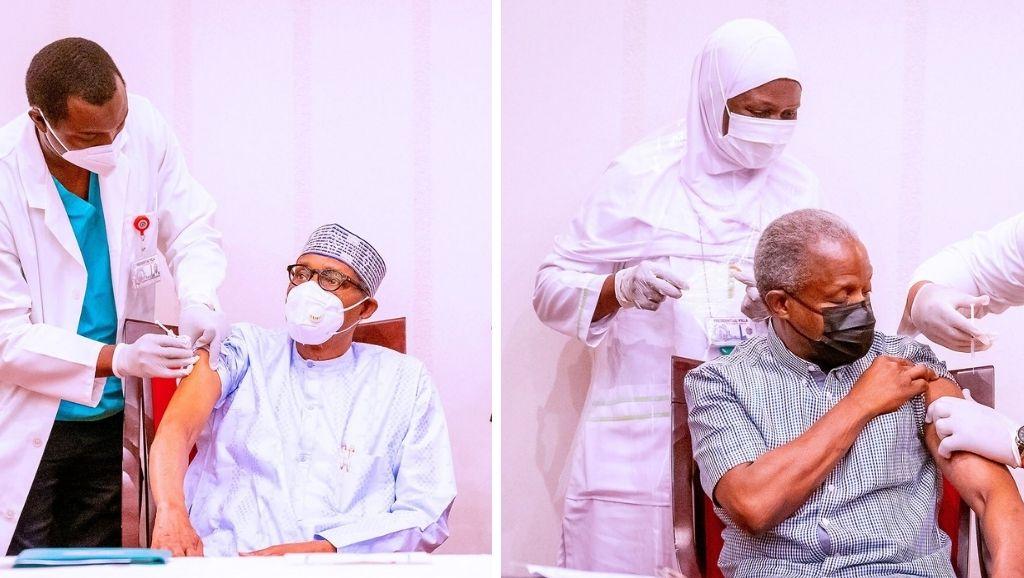 Buhari and Osinbajo vaccine