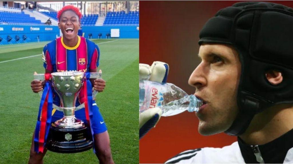 Barcelona striker, Asisat Oshoala reveals why goalkeepers drink water after conceding