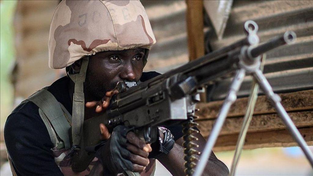 Nigerian Army Officer with gun