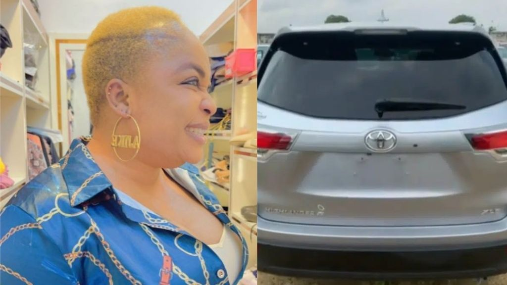 Actress, Kemi Afolabi acquires Toyota SUV worth N10M after battling health challenges for the few months (Video)