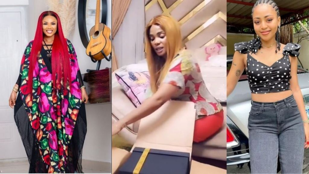 Actress, Regina Daniels melts Iyabo Ojo's heart with special gifts (Video)