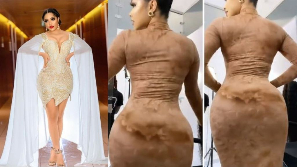 Nengi causes commotion online as she shows off her heavy backyard