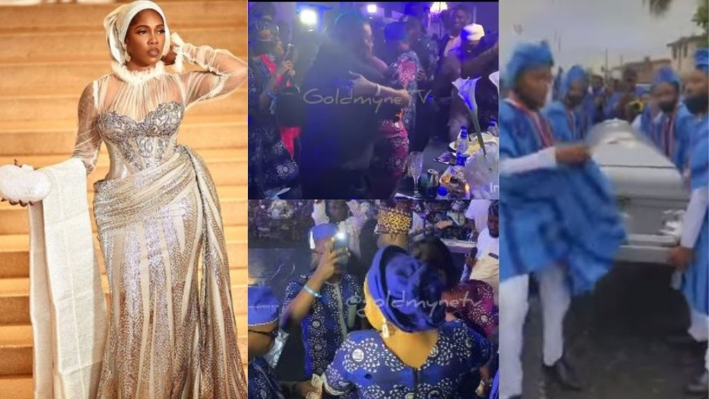 Cubana Chiefpriest, Bobrisky, and other celebrities attend the funeral reception of Tiwa Savage late father in style