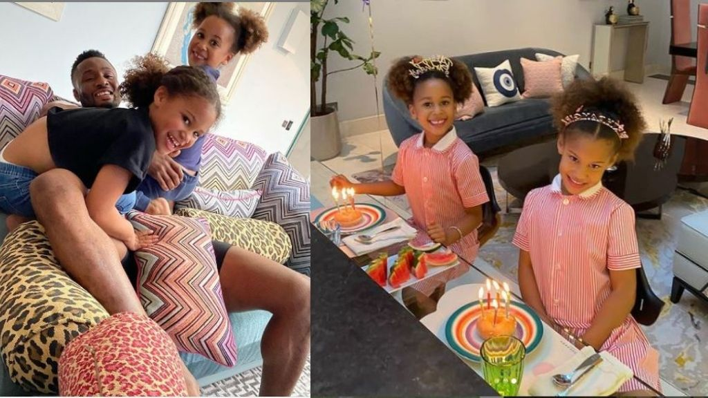 Ex-Super Eagles captain, John Obi Mikel celebrates his twin daughters  birthday with adorable photos | Intel Region