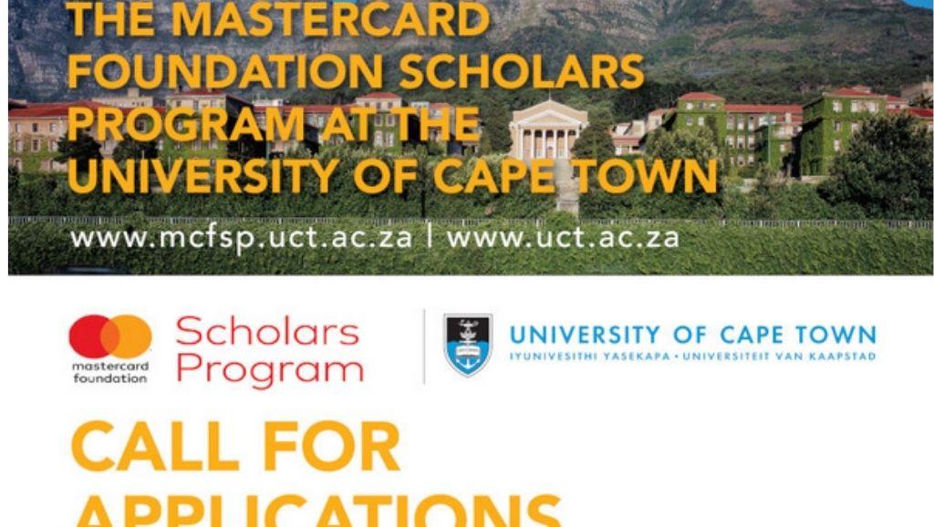 University of Cape Town (UCT) Mastercard Foundation Scholarship