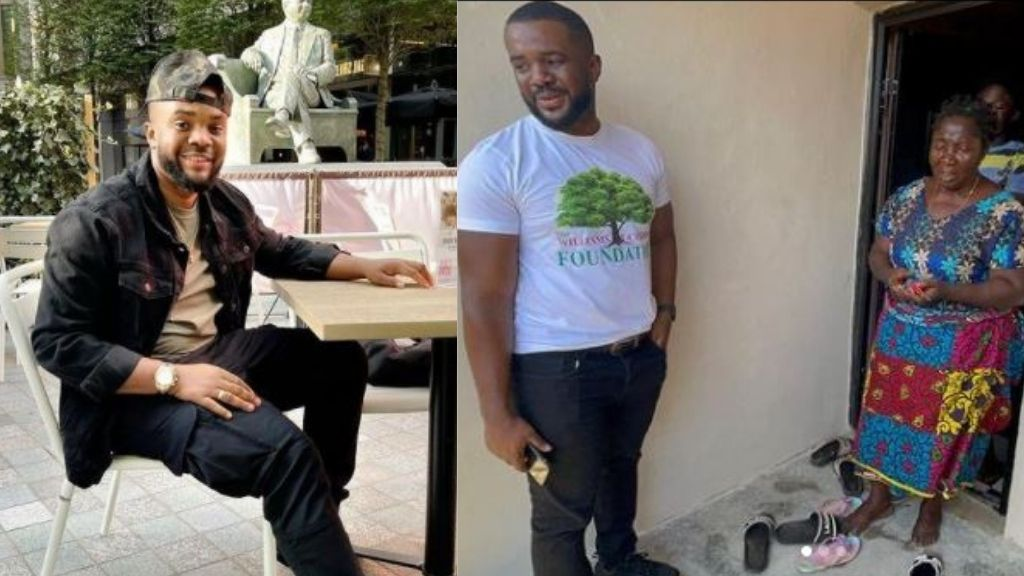 Williams Uchemba gifts house to widow who has been living in uncompleted building with her children since she lost her husband 21 years ago